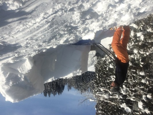180209屋根の雪降ろし